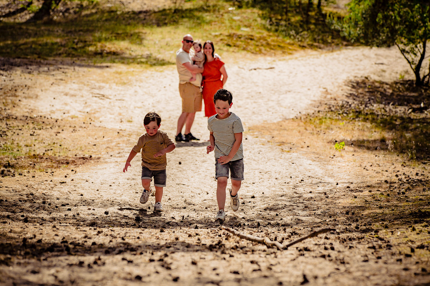 Familie shoot op locatie, familie fotografie